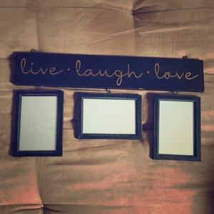 Live, laugh, love picture frame